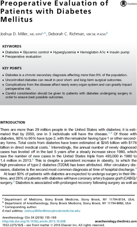 perioperative medicine for the junior clinician pdf